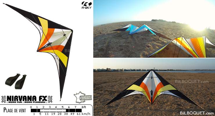 NFX - Nirvana FX WITHOUT lines - Indian (yellow-red) R-SKY kites