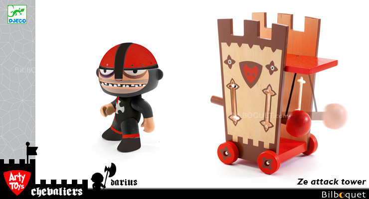 Darius & Ze Attack Tower - Arty Toys Knights Djeco