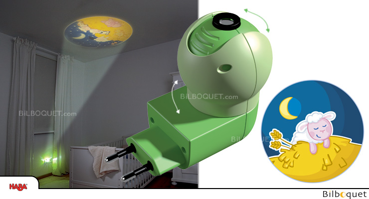 Plug-in Nightlight for kids room - Sheep (Green) Haba