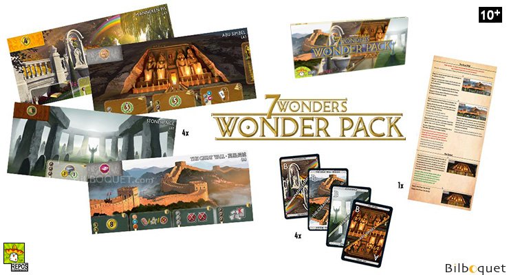 Wonder Pack - Extension pour le jeu 7 Wonders Repos Production
