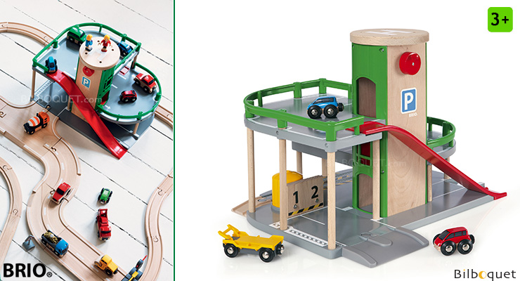 Garage Rail/Route pour circuits BRIO BRIO