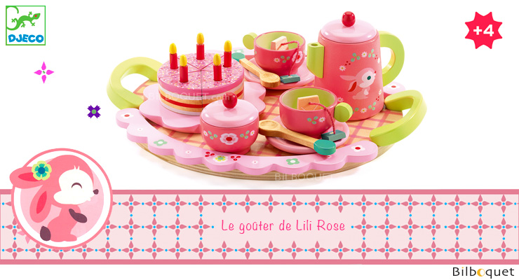 Lili Rose's tea and cake set Wooden Pretend-Play Toy Djeco