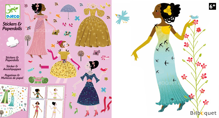 Stickers & Paperdolls Dresses through the seasons Djeco