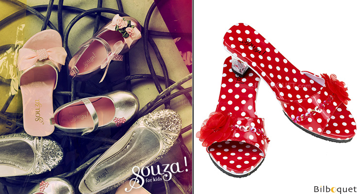 Red Shoes Inès - Accessories for girls size 27-28 Souza for kids