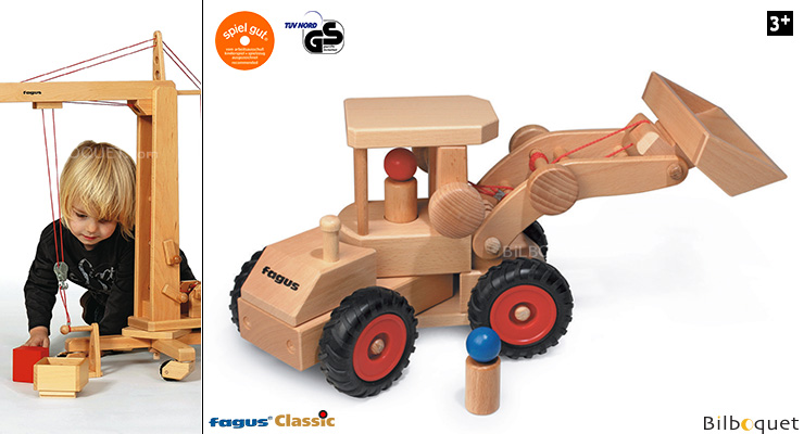Wheel Loader Wooden Construction Vehicle Fagus Wooden Toys