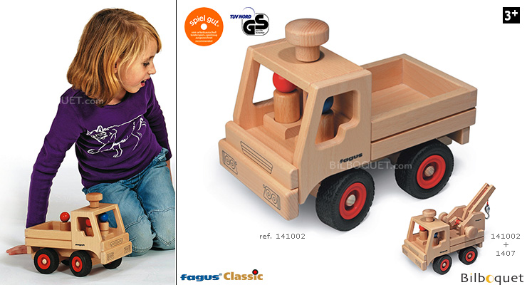 Wooden Truck (steerable) Fagus Wooden Toys