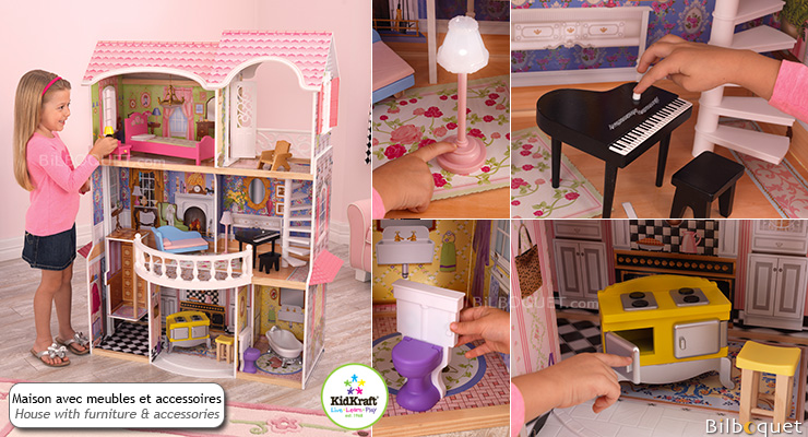 Doll House Magnolia Mansion with furniture KidKraft