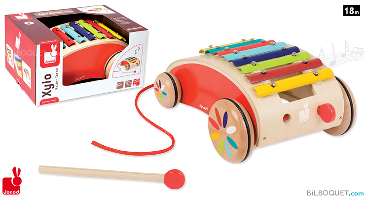 Xylo Roller Tatoo Pull-along Toy Janod