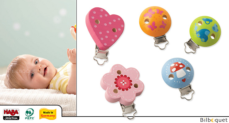 Ariella Wooden Clip for pacifier (per unit) Haba