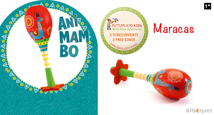 Animambo Maracas - Toy Music instrument Djeco