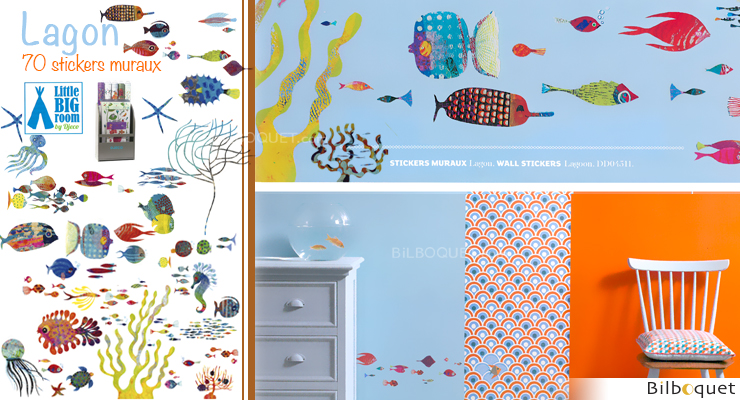 Lagon - Stickers muraux repositionnables Little Big Room by Djeco