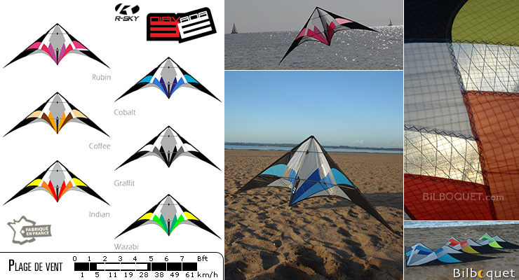 Nirvana 3E Skyshark Ultra-Versatile Sport Kite Graffit (black and white) R-SKY kites