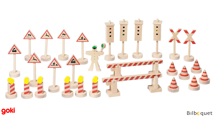 Traffic-signs 28 pieces + 1 character Goki