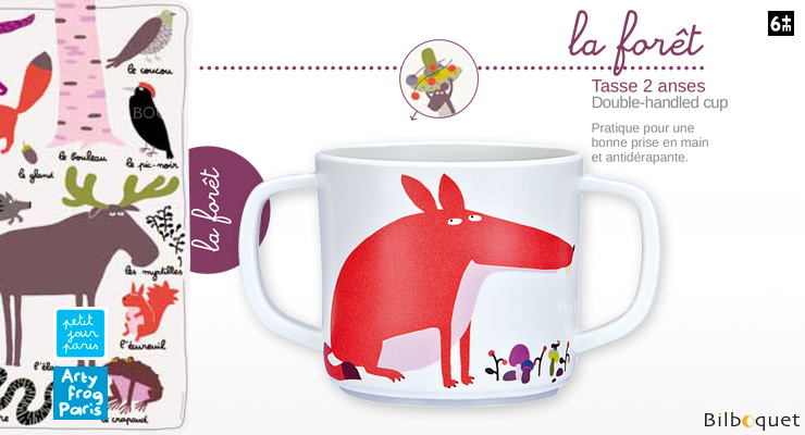 Double-handled cup Fox - The Forest Petit Jour