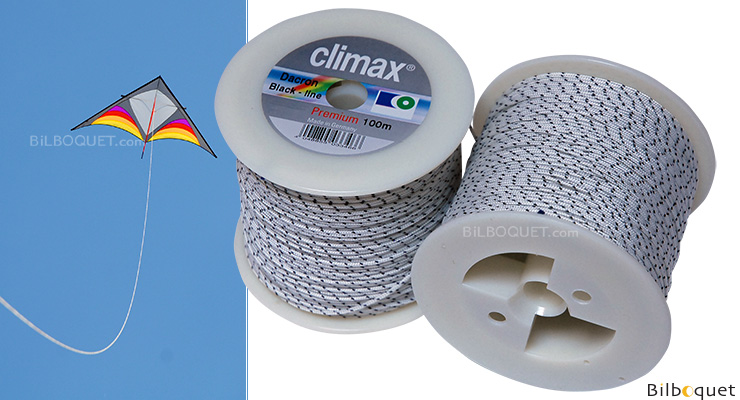 Climax Black-line - 100 meters - for Single-line kites 110kg/100m Climax