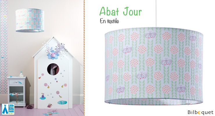 Abat-jour en coton motifs Papillons Little Big Room by Djeco