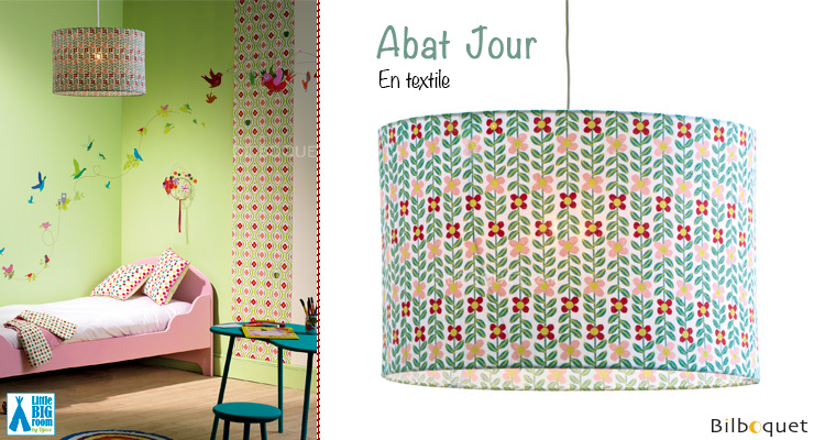 Abat-jour en coton motifs Liseron Little Big Room by Djeco