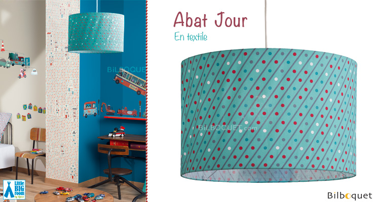Abat-jour en coton motifs Circulation Little Big Room by Djeco