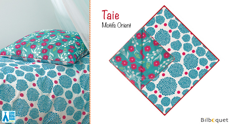 Taie d'oreiller motifs Orient 63x63cm Little Big Room by Djeco