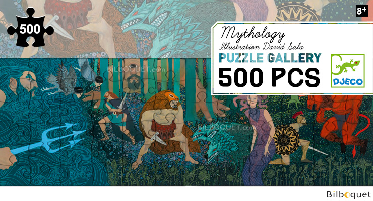 Puzzle Gallery 500 pieces Mythology Djeco