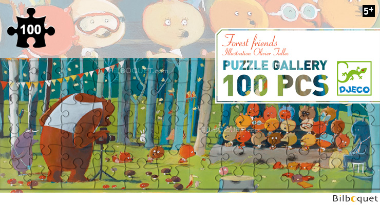 Puzzle Gallery 100 pieces Forest Friends Djeco