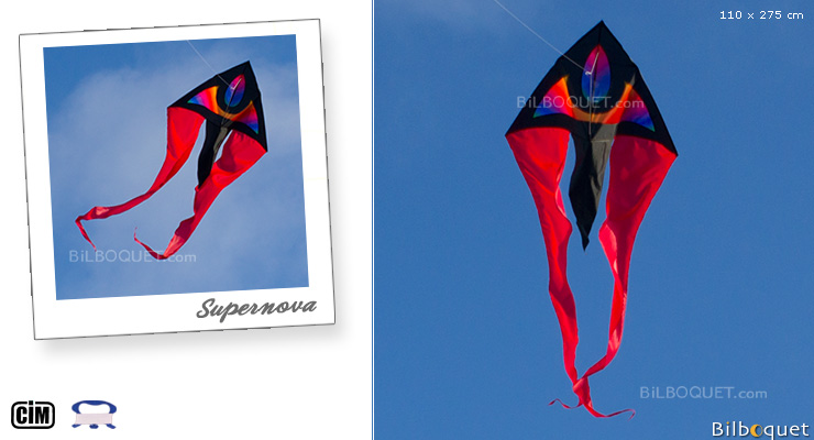 Cerf-volant monofil F-Tail XM Supernova Colours in Motion