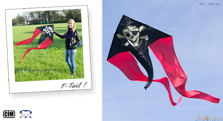 F-Tail Pirate Cerf-volant monofil enfant Colours in Motion