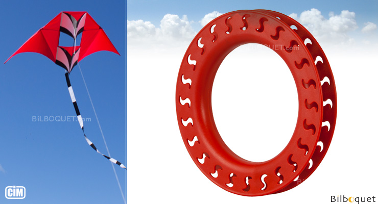 Yoyo Hoop Winder Ø18cm for Single Line Kite red Colours in Motion