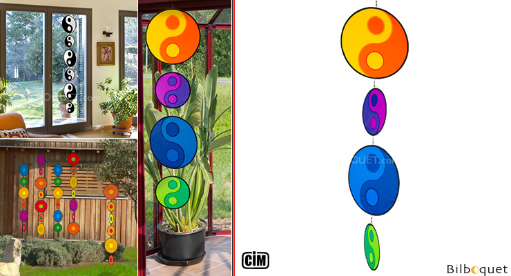 Tambouri Yin Yang Harmony - Mobile for indoor/outdoor Colours in Motion
