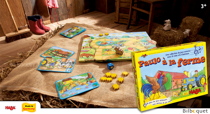 Hurly Burly on the Farm A sound-filled game collection Haba