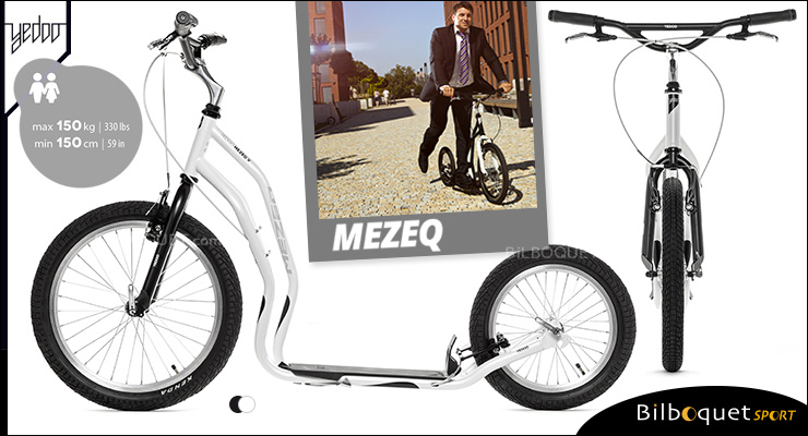 Mezeq II trottinette ado/adulte 14+ - WHITE/BLACK Yedoo