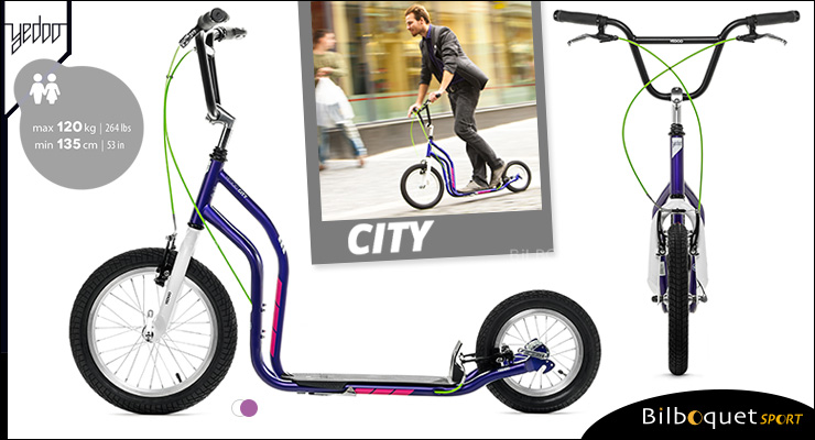 City II Scooter 12+ - VIOLET/WHITE Yedoo