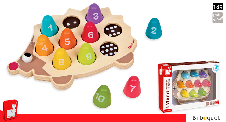 Hedgehog Colours and numbers - Learning toys Janod