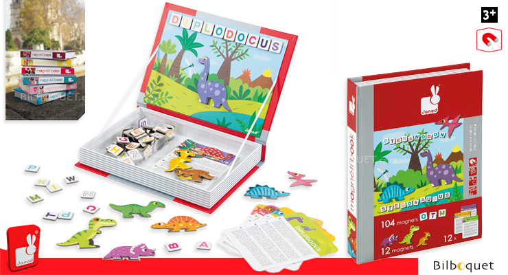 Magneti'book Dinosaurs Janod