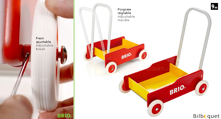 Red and Yellow Toddler Wobbler with brake BRIO