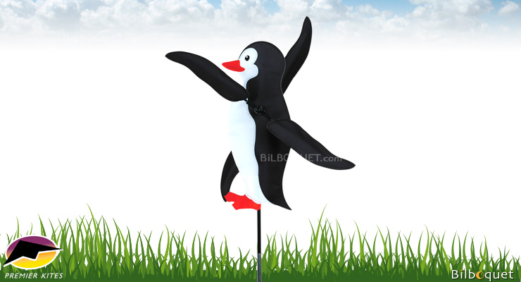 Outdoor Deco WhirliGig Spinner Penguin 43cm Premier Kites & Designs