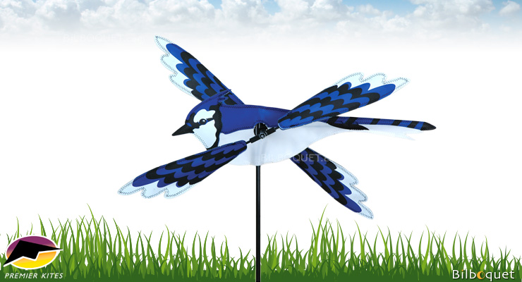 Outdoor Spinner WhirliGig Blue Jay 45cm Premier Kites & Designs