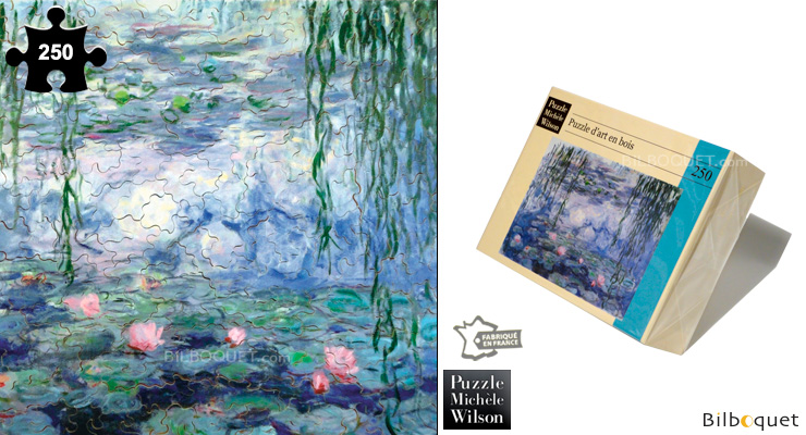 Water-Lily Pond and Weeping Willow - Wooden Art Puzzle Puzzle Michèle Wilson