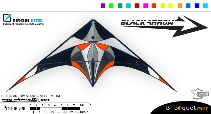 Black Arrow - Cerf-volant polyvalent Standard Premium Air-One Kites