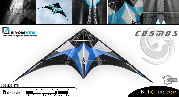 Cosmos STD - Freestyle Stunt Kite Royal Blue Air-One Kites