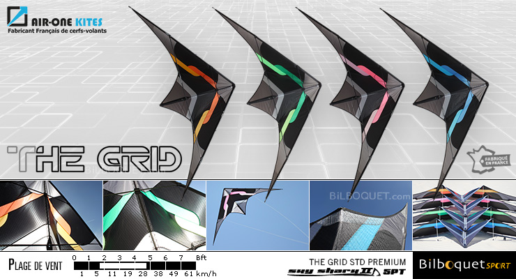 The Grid Premium - Cerf-volant ultra-polyvalent Air-One Kites