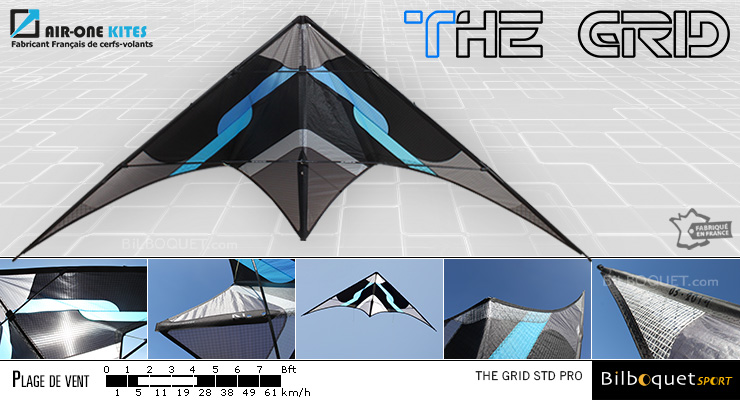 The Grid Pro - Ultra Versatile Stunt Kite Blue Air-One Kites