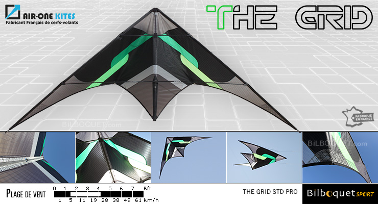 The Grid Pro - Ultra Versatile Stunt Kite Green Air-One Kites