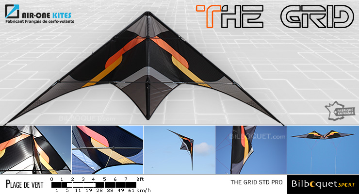 The Grid Pro - Ultra Versatile Stunt Kite Orange Air-One Kites