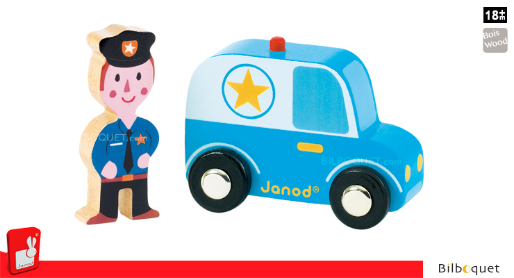 Story Set City - Police Car and Policeman Janod