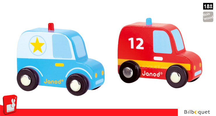 Story Set City - Police Car and Firefighter Car Janod