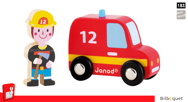 Story Set Firefighters - Firefighter and his vehicle Janod