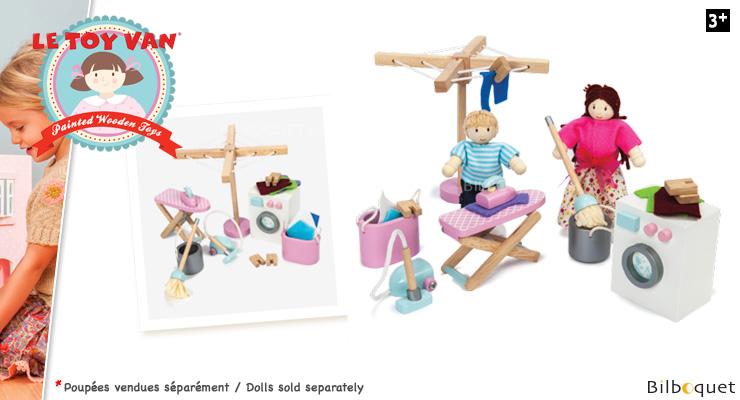 Laundry Room Set - Doll House Accessories Le Toy Van