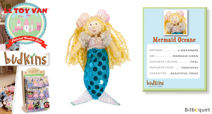 Budkins Wooden doll - Mermaid Oceane Le Toy Van