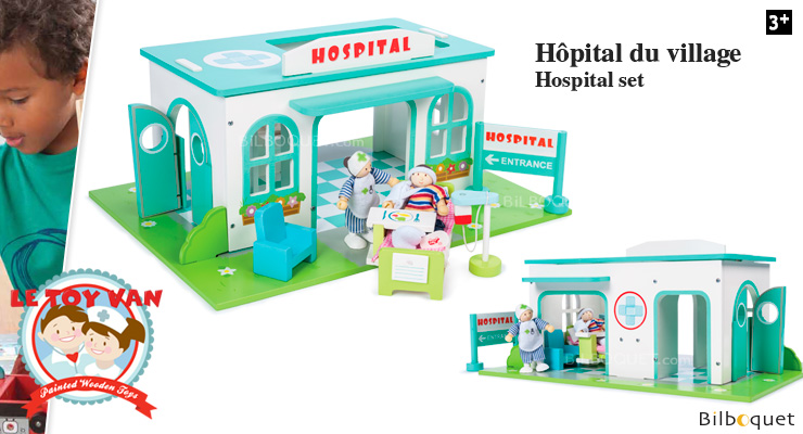 Village Hospital Set - Wooden Toy Le Toy Van